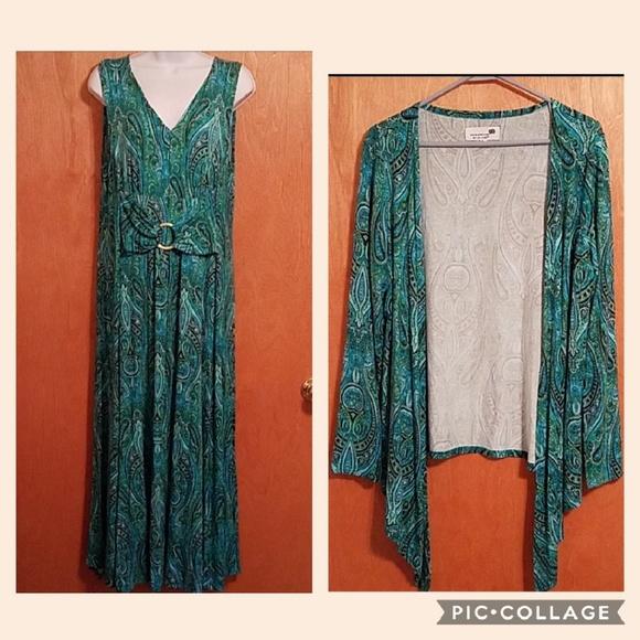 5fe8981a7 Liz Lange Dresses   Skirts - Liz Lange Maxi Dress and Cardigan set ...